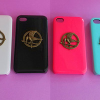 Hunger Games-- iphone 4 case ,iphone 4S case,stud iphone 4 case,iphone 4S case in black or white or green or red