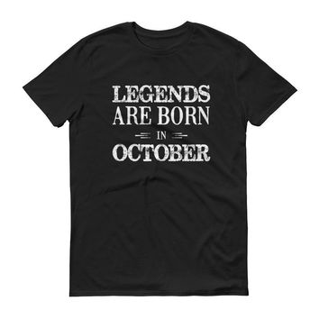 Men's Legends are born in October Birthday tshirt