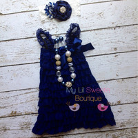 Nautical night set dress necklace and by MyLilSweetieBoutique