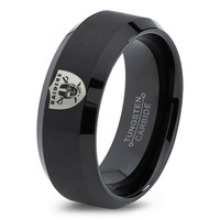 Oakland Raiders Ring Mens Fanatic NFL Sports Football Boys Girls Womens NFL Jewelry Fathers Day Gift Tungsten Carbide 166c