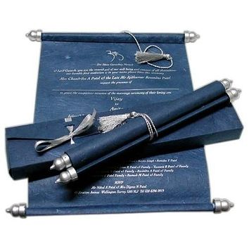 Bar Mitzvah Scroll Invitation