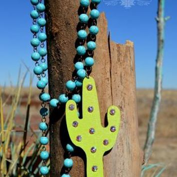 Cactus Lime Necklace