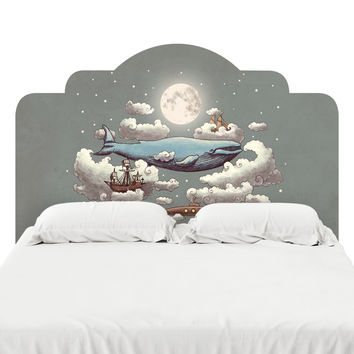 Ocean Meets Sky Headboard Decal