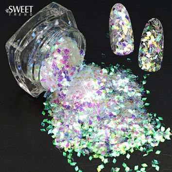 SWEET TREND 1 x Paillette Rhombus Shape Nail Art Sequin Decoration Glitter Nail Art Sticker Colorful Nail Manicure Tips LALQ02