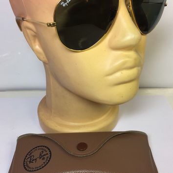 RAY BAN VINTAGE CARAVAN SUNGLASSES BAUSCH & LOMB 58 15 WITH CASE