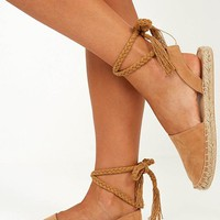 Therapy - Eperney Espadrilles in Camel Micro Produced By SHOWPO