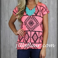 Neon Tribal tee in PINK