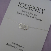 BEST Friend Necklace // Friendship Jewelry // BEST FRIENDS Necklace - Inspirational Jewlery Sterling Silver - Simple
