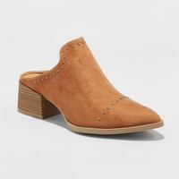 Women's Crista Studded Pointed Toe Heeled Mules - Universal Thread™
