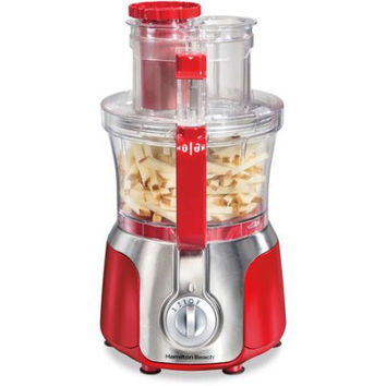 Hamilton Beach Big Mouth Deluxe 14-Cup Red, Black Multi Purpose Food Processor