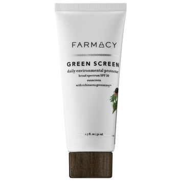 Sephora: Farmacy : Green Screen Daily Environmental Protector Broad Spectrum SPF 30 Sunscreen with Echinacea GreenEnvy™ : face-sunscreen