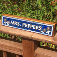 Mosaic Name Desk Plaque for your office - Great gift for teacher, boss, secretary...