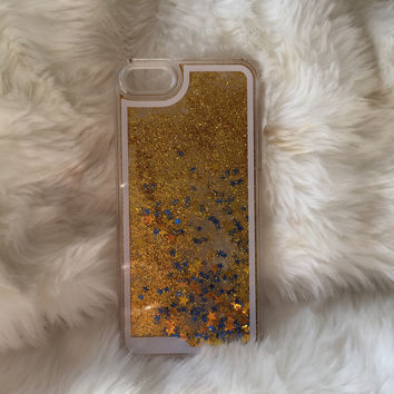 Gold Star Fall iPhone case