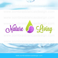 OOAK Premade Logo Design - Essential Oils Drop - Perfect for a natural cosmetics brand or a aromatherapy products shop