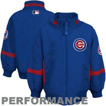 Majestic Chicago Cubs Infant Authentic Performance Jacket - Royal Blue - http://www.shareasale.com/m-pr.cfm?merchantID=7124&userID=1042934&productID=555874023 / Chicago Cubs
