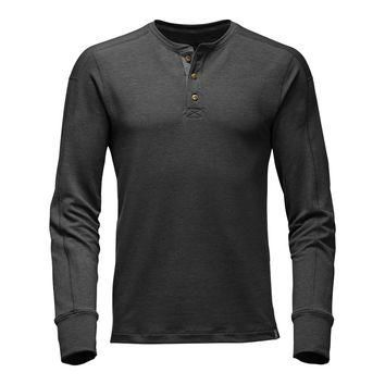 Men's Long Sleeve TNF? Terry Henley in Dark Grey Heather by The North Face