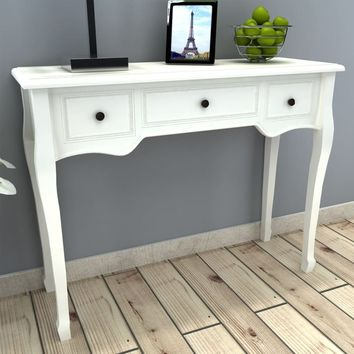 French Curved Legs Console Table