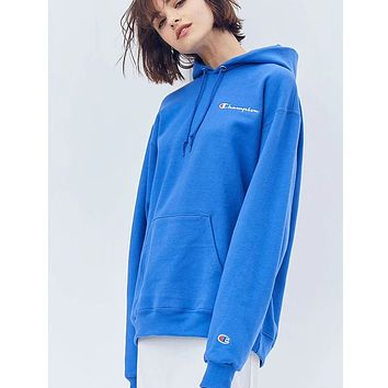 Champion Women Fashion Embroidery Hoodie Pullover Top Sweater