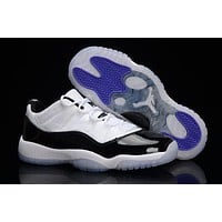 Air Jordan retro 11 low XI men whit and black Outdoor sports shoes