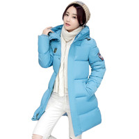 Woman Winter Jacket and Coat 2016 Fashion Cotton Padded Jacket Long Style Hood Slim Parkas Plus Size Thicken Female Outerwear