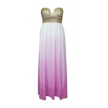 Sequin Ombre Maxi Dress Purple