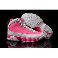 Nike Air Jordan 9 Retro Pink/cream Women Sport Shoe Size Us 5.5-8.5 - Beauty Ticks