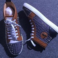 DCCK2 Cl Christian Louboutin Louis Spikes Style #1884 Sneakers Fashion Shoes