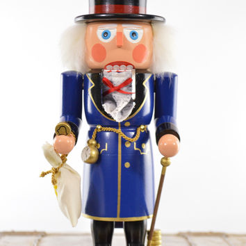 Wooden Nutcracker Ebeneezer Scrooge Original Erzgebirge Limited Edition