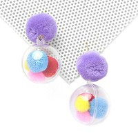 Ballgame Pom Pom Earrings