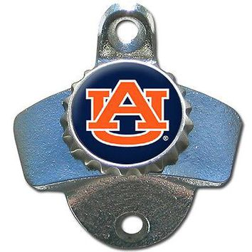 Auburn Tigers Wall Mount Bottle Opener Bar Pub Man Cave NCAA Football Beer Soda