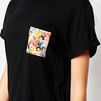 Vans Disney Oversized T-Shirt With Princess Print Pocket