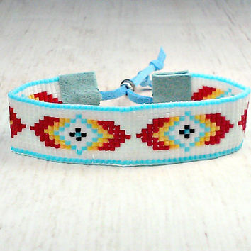 Southwestern Bracelet - Hippie Bracelet - Bohemian Bracelet - Beaded Jewelry - Rustic Bracelet - Mother's Day Gift - Women's Jewelry