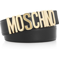 Moschino | Logo leather belt | NET-A-PORTER.COM