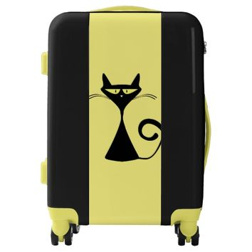 Cute Feline Cat Luggage