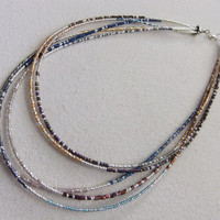 Japanese Seed Bead Multistrand Necklace