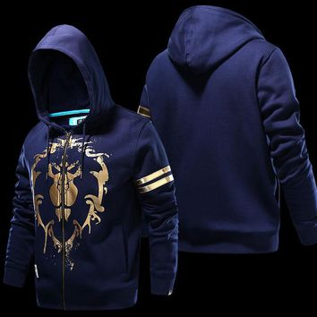 World of Warcraft Alliance Symbol Zip Up Hoodie