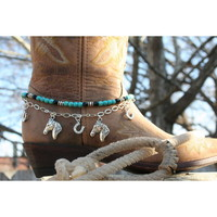 Boot Candy Boot Candy Turquoise Lucky Horse Shoes & Horses