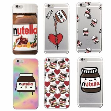 For Iphone 7 7 Plus Case Apple Cover Nutella Cute Italian Pizza Food TPU Phone