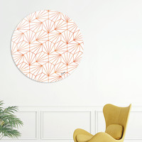 «Rose Gold & White», Limited Edition Disk Print by Uma Gokhale - From $99 - Curioos