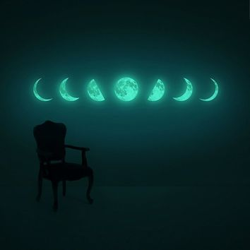 Moon Phase Wall Sticker