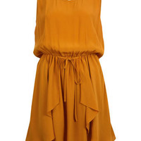 Ochre Drape Skirt Dress - View All - Dresses - Miss Selfridge
