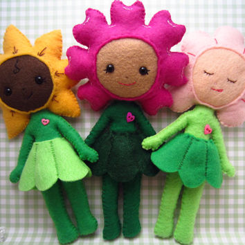 Doll PDF Pattern Download HeartFelt Flower Baby