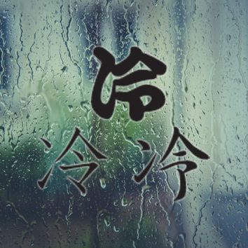Cool Kanji Symbol Style #2 Vinyl Decal - Outdoor (Permanent)