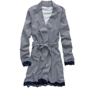 Aerie Waffle Robe, Medium Heather Grey | Aerie for American Eagle