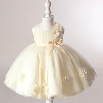 2017 Summer New Girl Dresses Baby Girls Princess Dress 0-2 Years Chlidren Clothes Kids Party Costume Ball Gown For Wedding