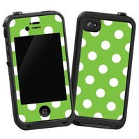"""Amazon.com: White Polka Dot on Lime """"Protective Decal Skin"""" for LifeProof 4/4S Case: Electronics"""