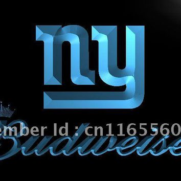 LD281- NY New York Giants Budweiser   LED Neon Light Sign     home decor shop crafts