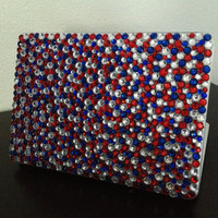 Red white and blue MacBook Pro 13in case
