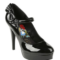 Disney Alice In Wonderland Black Mary Jane Heel