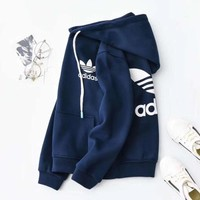 Adidas Girls Boys Children Baby Toddler Kids Child Fashion Casual Top Sweater Pullover Hoodie